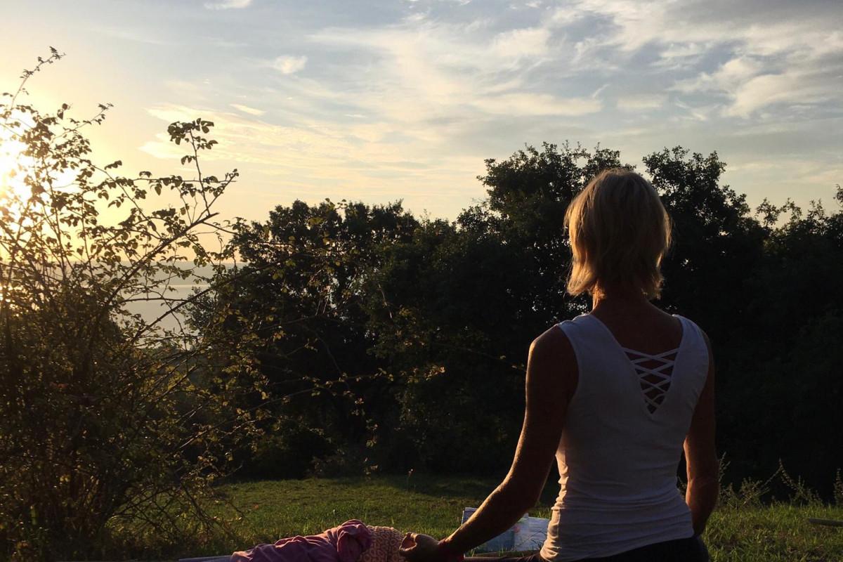 Morning meditation 'Lago di Bolsena'