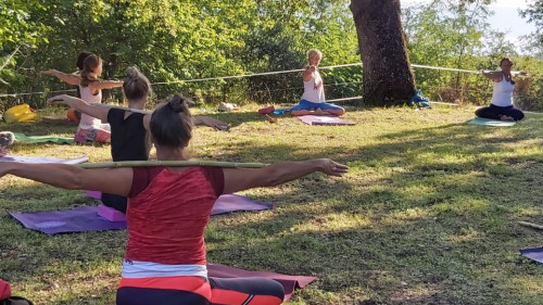 Yoga and holiday/Lago di Bolsena/Italy